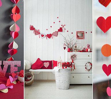 Украшаем квартиру ко Дню Святого Валентина своими руками