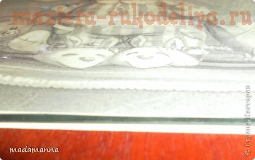 Оформление вышивки круглым