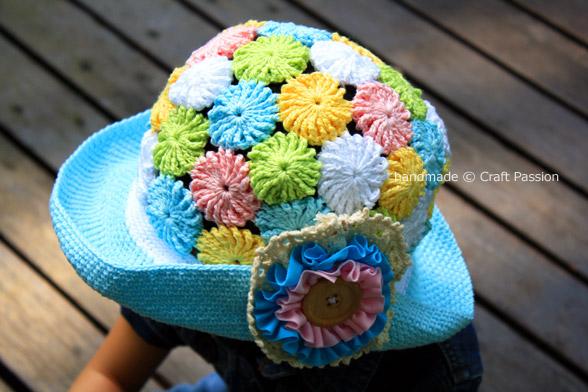 Симпатичная летняя шляпка